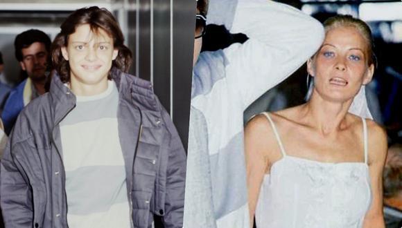 Luis Miguel y Marcela Basteri en el aeropuerto de Barajas en Madrid en 1985. Un año después, en ese mismo lugar, el 'Sol' vería por última vez a su madre. (Fotos: EFE)