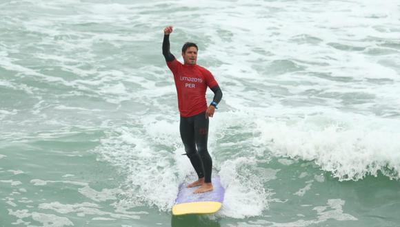 Benoit 'Piccolo' Clemente ganó la medalla de oro en la disciplina de longboard, en los Juegos Panamericanos Lima 2019. El surfista es uno de los representantes de los Juegos Deportivos Escolares Nacionales 2019