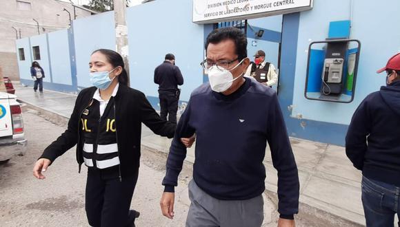 Chiclayo: Detienen a exfuncionario de la municipalidad provincial de Chiclayo, Leopoldo Vázquez Casas (75), investigado por la compra, presuntamente, sobrevalorada de gasolina. (Foto: Sandro Chambergo)