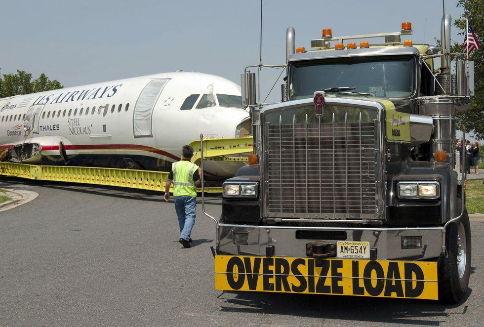 El Airbus A320 N106US rumbo al museo Carolinas Aviation Museum. (AFP)<br>