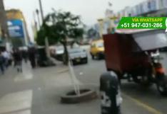 WhatsApp: vecinos piden más orden en Av. Alfonso Ugarte (VIDEO)