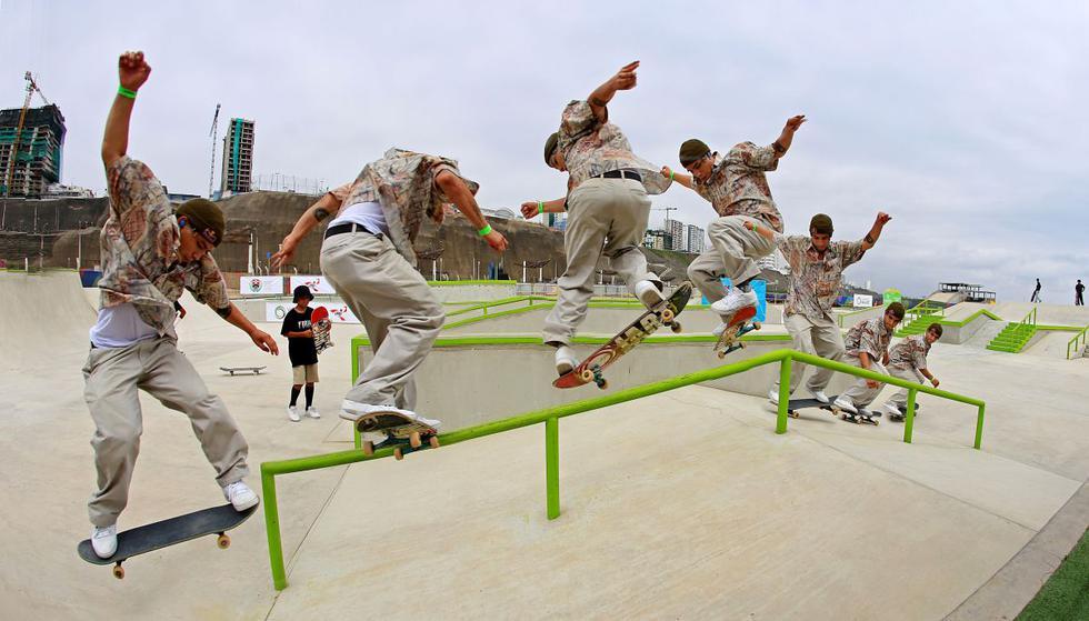 COMPLEJO PANAMERICANO SAN MIGUEL: Campeonato Nacional Skateboarding. Ángelo Caro está cerca de clasificar a Tokio 2020. (Foto: Legado Lima 2019 / Germán Falcón)