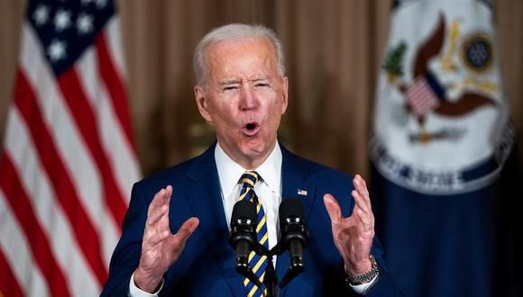 Joe Biden pide el fin de la guerra en Yemen. (EFE/EPA/JIM LO SCALZO).