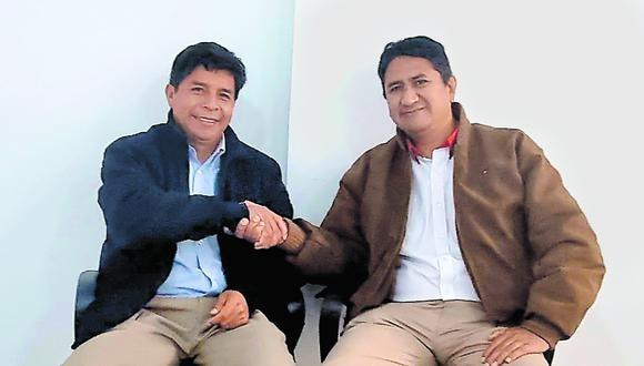 """Castillo había señalado que no verían a Cerrón """"ni siquiera de portero en el Estado"""". Este sábado ambos participarán en congreso de PL. (Foto: Facebook)"""