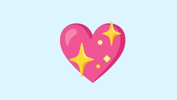 ¿Alguien te mandó el también conocido como Sparkling Heart en WhatsApp? (Foto: Emojipedia)