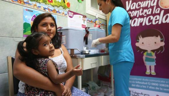 El presidente PPK participó en el lanzamiento de la primera etapa de la vacunación contra la varicela en el Instituto Nacional de Salud del Niño en Breña. (Difusión)