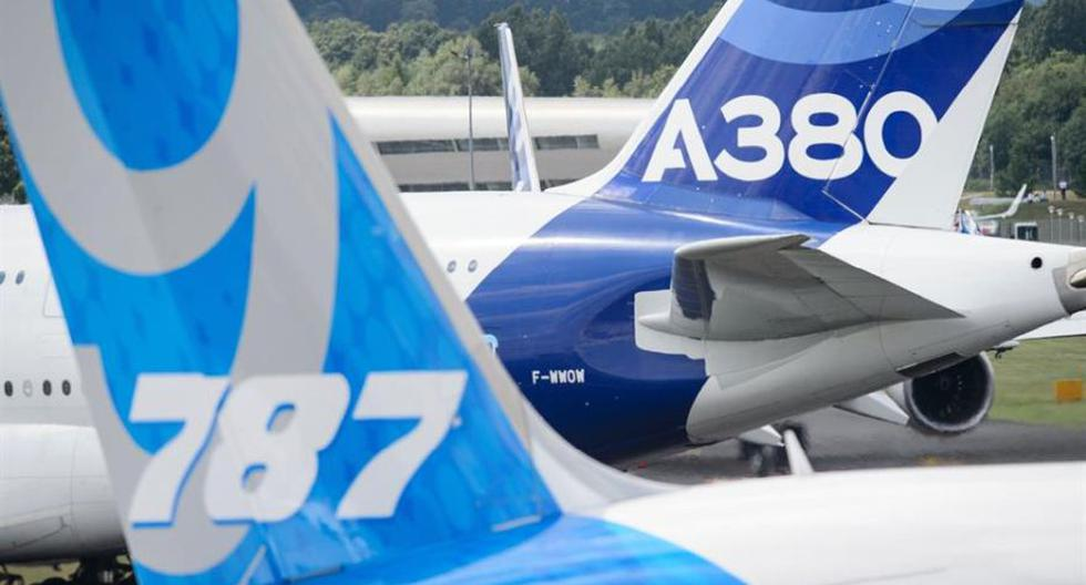 Estados Unidos y la Unión Europea se acusan de brindar a sus respectivas industrias aeronáuticas subsidios que violan las reglas del comercio internacional (en favor de Boeing, en el caso de EE.UU., y de Airbus, en el caso de la UE. (Foto: AFP)