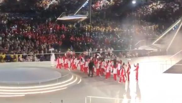 La delegación peruana desfiló y se ganó los palmas del público en la inauguración de las Olímpiadas Especiales Abu Dhabi 2019. (Foto: IPD).