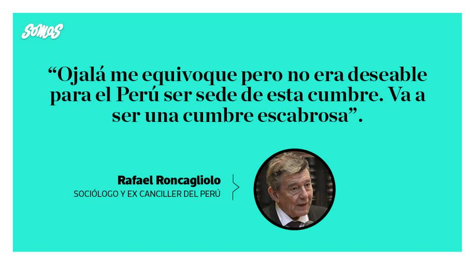Las mejores frases del ex canciller peruano.