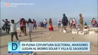 Invasores llegaron a Villa El Salvador Y al Morro Solar