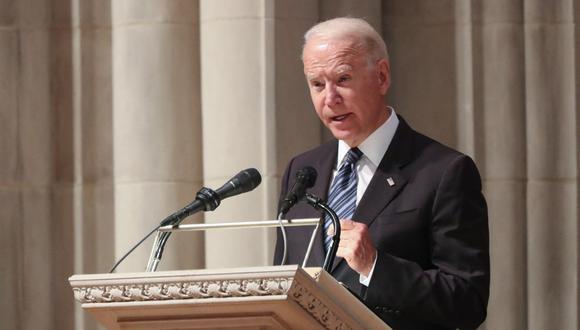 """En abril, Joe Biden denunció la """"epidemia"""" de violencia debido a las armas de fuego en Estados Unidos, algo que calificó de """"vergüenza internacional"""". (Oliver CONTRERAS / POOL / AFP)."""