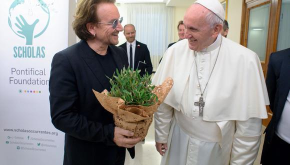 """Papa Francisco habla con el cantante Bono de su """"dolor"""" por la pedofilia en la Iglesia (Foto: )"""