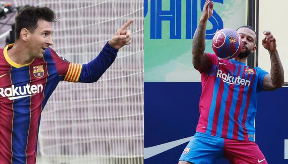 Memphis Depay consideró que cumplió un sueño al llegar al FC Barcelona. (Foto: EFE / Reuters)