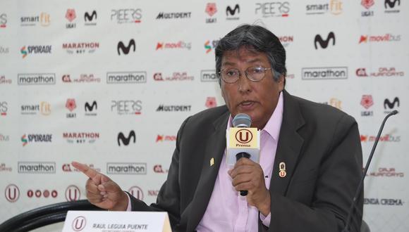 Desde mediados de setiembre, Raúl Leguía es secretario general de Universitario, luego de que los designe la Sunat. (FOTO: ROLLY REYNA / EL COMERCIO)