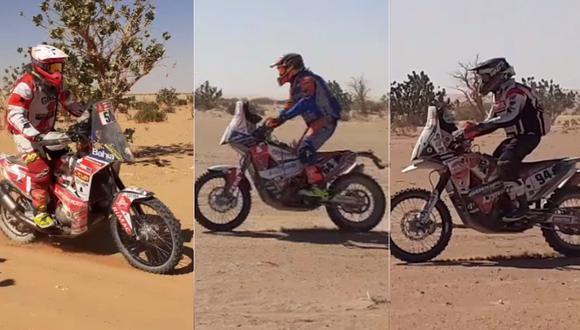 Sebastián Cavallero, Carlo Vellutino y Lalo Burga siguen en carrera en el Dakar 2020 y así lo vimos en su recorrido de este martes. (Video: Christian Cruz Valdivia, enviado especial de El Comercio)