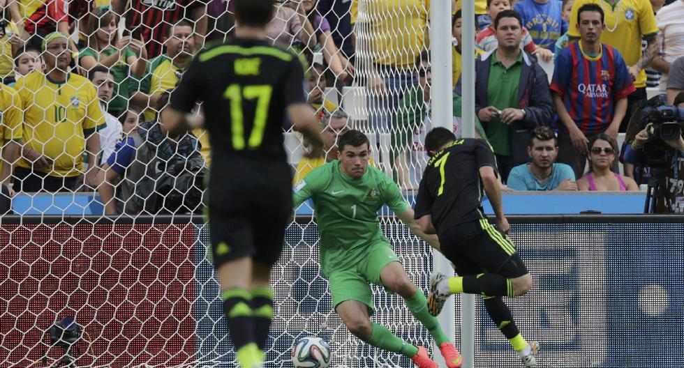 Así fue el golazo de taco de David Villa ante Australia - 1