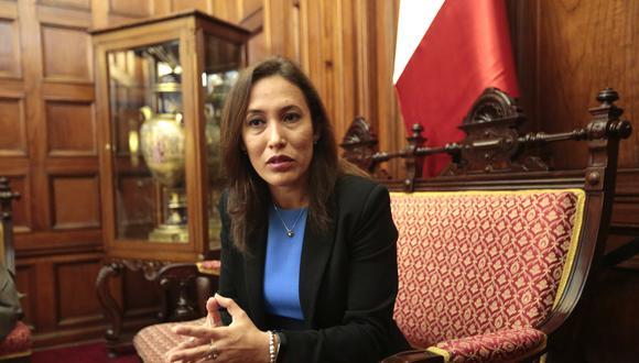 Paloma Noceda renunció luego de la elección de la Mesa Directiva encabezada por Daniel Salaverry, con quien tuvo diferencias por la ley de fortalecimiento de la FPF. (Foto: GEC)