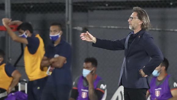 Ricardo Gareca no negocia con la idea de juego que tiene para la selección peruana. (Foto: FPF)