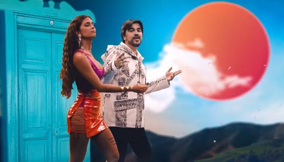 """Greeicy y Juanes en el video de """"Minifalda"""". (Fuente: YouTube)"""