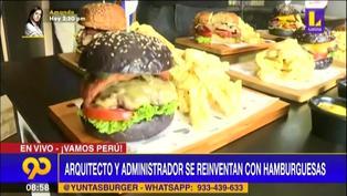 Emprendedores: Arquitecto y administrador se reinventan ofreciendo deliciosas hamburguesas