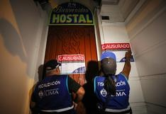 San Valentín: clausuran 15 hostales en Cercado de Lima por condiciones insalubres   FOTOS