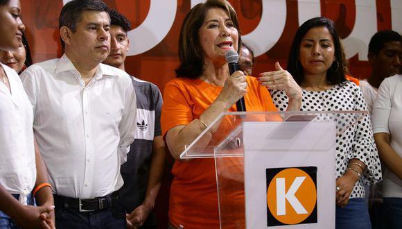 """Martha Chávez respondió al comunicado de su partido. """"Yo no soy responsable de las 'interpretaciones' que los enemigos del fujimorismo puedan hacer sobre mis expresiones"""", sostuvo. (Foto: GEC)"""