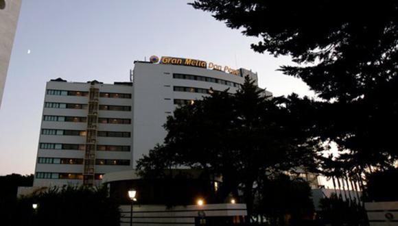 La fachada del hotel Gran Meliá Don Pepe donde ocurrió el trágico hecho en la madruga en España. (Foto: La Nación / GDA).