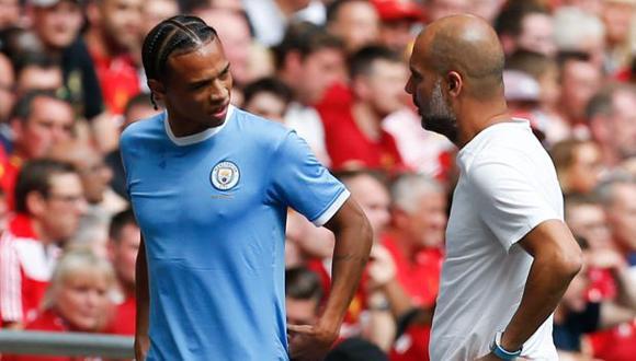 Leroy Sané regresaría a las canchas el próximo año, según estimó Guardiola. (Foto: AFP)
