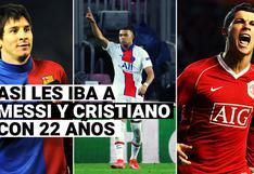 Repasa cómo estaban Cristiano Ronaldo y Lionel Messi cuando tenían la edad de Mbappé