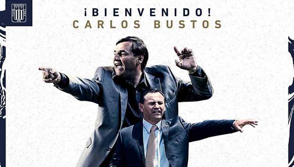 Carlos Bustos es el nuevo entrenador de Alianza Lima. (Foto: @ClubALoficial)