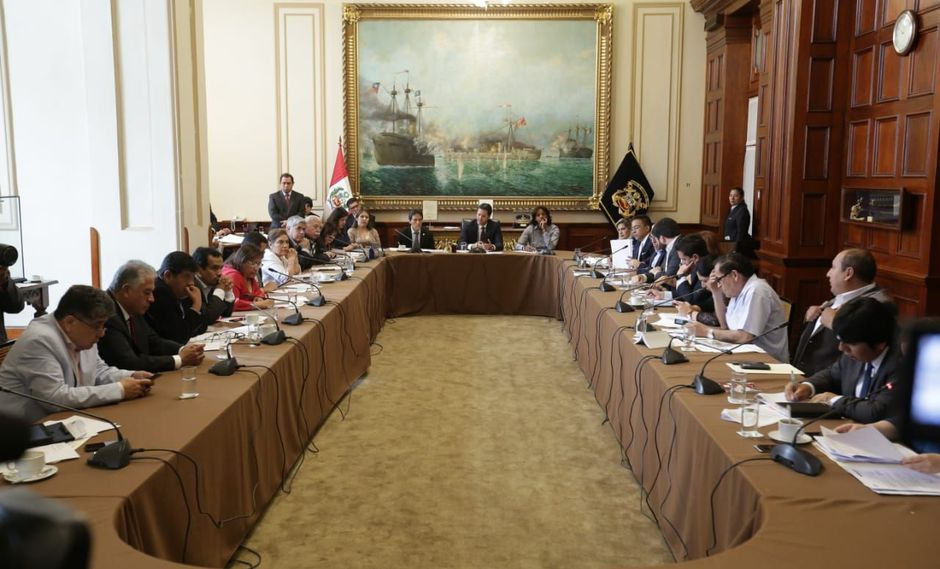 El Consejo Directivo, presidido por Daniel Salaverry, sesionó por unas cinco horas en medio de discusiones entre congresistas. (Foto: Anthony Niño de Guzmán / GEC)
