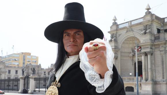 """El actor Cristian Esquivel interpreta a Túpac Amaru II en """"Los otros libertadores"""", nueva serie de Latina. (Foto: Juan Ponce / El Comercio)"""