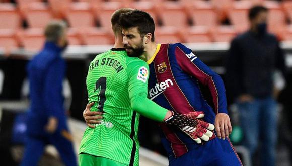 Gerard Piqué cree en las opciones de Barcelona en LaLiga. (Foto: Reuters)