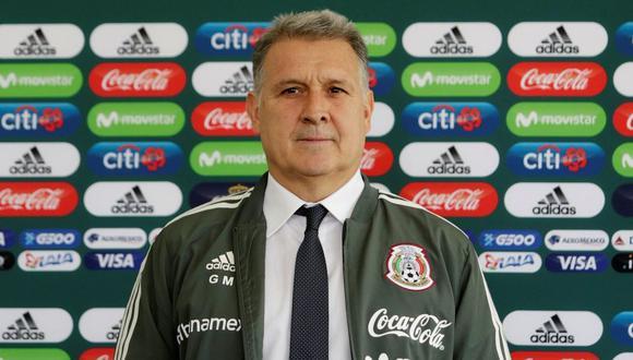 Gerardo Martino asumió la dirección técnica de la selección mexicana para el proceso Qatar 2022. El 'Tata' resaltó la labor de sus predecesores y el talento del futbolista azteca. (Foto: EFE)