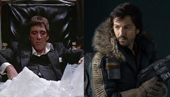 """En """"Scarface"""", Diego Luna interpretaría el mismo rol que tuvo Al Pacino en los años 80. (Imágenes: Universal/ Lucasfilm)"""