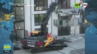 Alemania: Contratista destruye fachada de edificio por falta de pagos