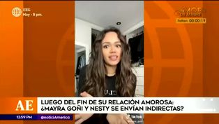 Mayra Goñi causa revuelo por supuesta indirecta a ex novio Nesty