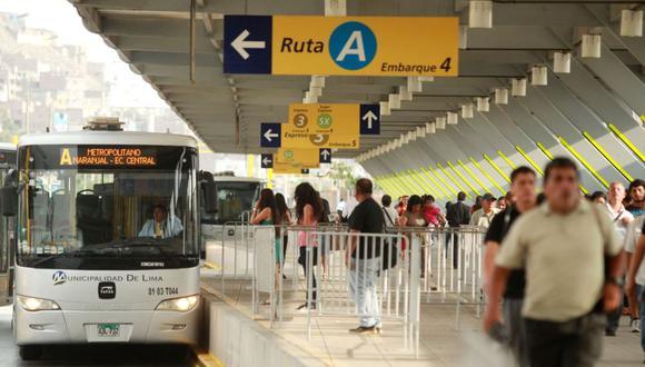 Las obras de ampliación del Metropolitano se iniciarán en la Estación Naranjal. (Foto: Andina)