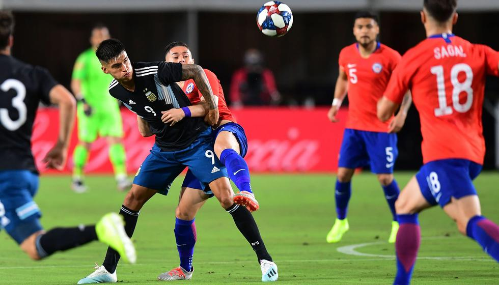 Argentina vs. Chile. (Foto: AFP)