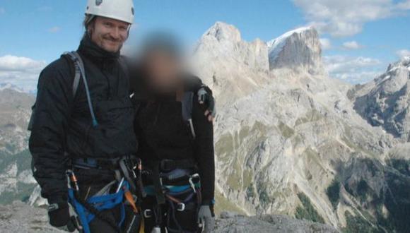 """Mark Kennedy con """"Lisa"""" durante su viaje a los Alpes italianos, cuando se hacía llamar Mark Stone. Foto: BBC"""
