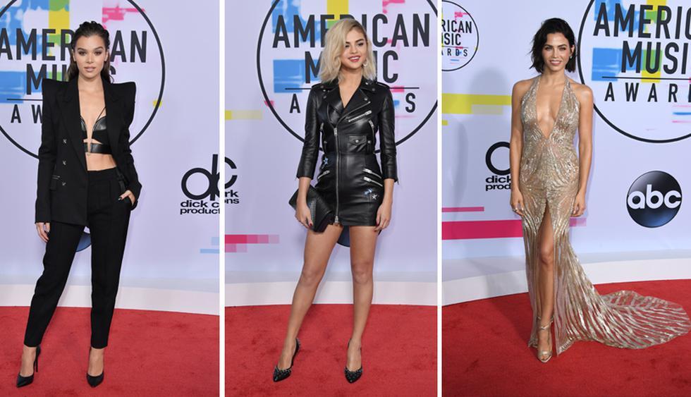 Hailee Steinfeld, Selena Gomez y Jenna Dewan fueron algunas de las estrellas que destacaron por sus looks en la alfombra roja de los American Music Awards. Descubre el detalle de sus tenidas en esta galería. (Foto: AFP)