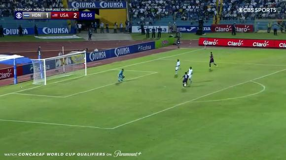 Aaronson's goal 3-1 in Honduras against the United States