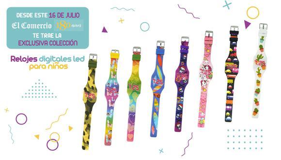 Son 8 relojes digitales led para los engreídos del hogar con las siguientes temáticas, Cactus, Corazones, Piratas, Autos, entre otros.