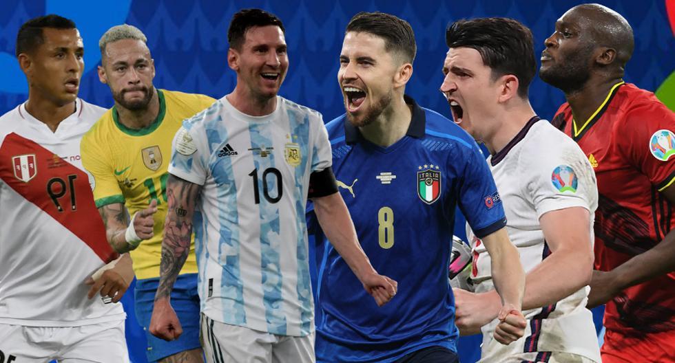Los XI ideales de la Copa América y de la Eurocopa frente a frente. Argentina e Italia, respectivamente, fueron los campeones de los torneos. (El Comercio)