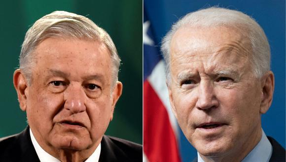 AMLO y Joe Biden sostendrán una reunión virtual el lunes. (ALFREDO ESTRELLA / SAUL LOEB / AFP).