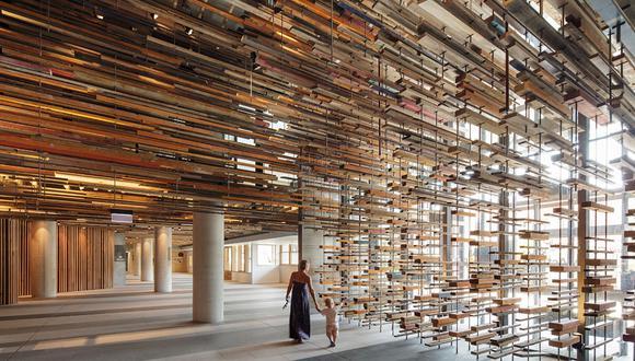 El Hotel Hotel combinó la madera con el hormigón y el acero en un diseño audaz e innovador. (Foto: John Gollings / hotel-hotel.com.au)