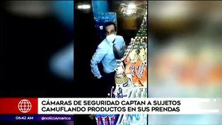 San Isidro: delincuentes son captados robando productos de minimarket