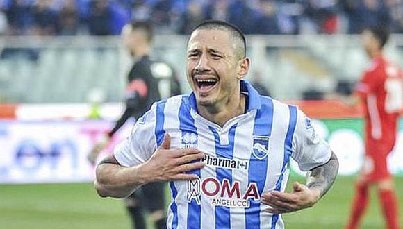 Cuando Gareca contactó a Lapadula en el 2016, el jugador militaba en el Pescara de la Segunda División de Italia.