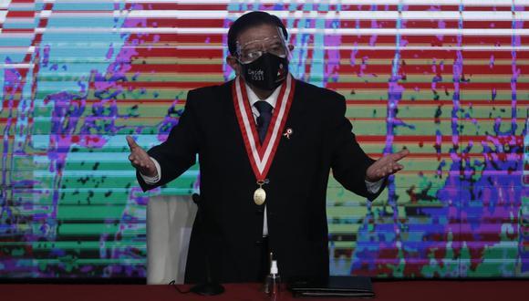 """El presidente del JNE explicó los motivos por los cuales se determinó que no hubo """"evidencias serias de fraude"""". (Foto: El Comercio)"""