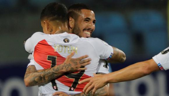 Sergio Peña anotó el 1-0 de Perú vs. Colombia por Copa América 2021. (Foto: EFE)